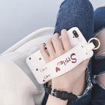 【M504】★ iPhone 6 / 6s /6Plus / 6sPlus / 7 / 7Plus / 8 / 8Plus / シェルカバー ケース ハート ロゴ ベルト 可愛い