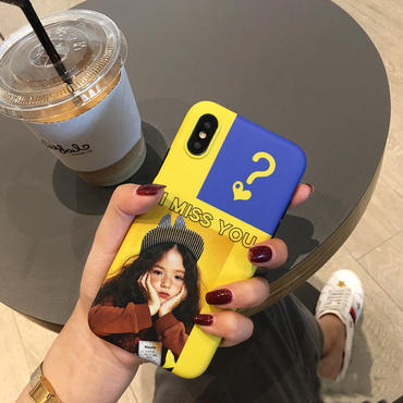 【M387】★ iPhone 6 / 6s / 6Plus / 6sPlus / 7 / 7Plus / 8 / 8Plus / X ★ シェルカバー ケース I MISS YOU Girl
