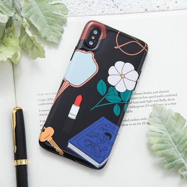 【M832】★ iPhone 6 / 6s / 6Plus / 6sPlus / 7 / 7Plus / 8 / 8Plus / X ★ シェルカバー ケース花 Mirror Book