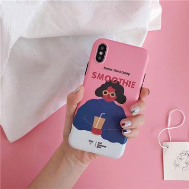 【M567】★ iPhone 6 / 6s / 6Plus / 6sPlus / 7 / 7Plus / 8 / 8Plus / X ★ シェルカバーケース ピンクSummer Girl