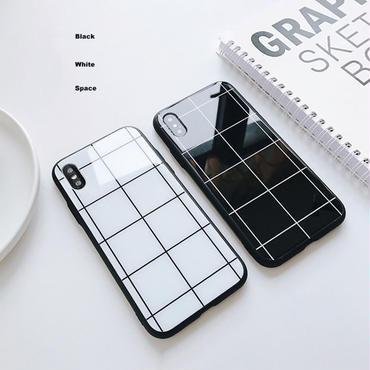 【M910】★ iPhone 6 / 6s / 6Plus / 6sPlus / 7 / 7Plus / 8 / 8Plus / X ★ シェルカバー ケース Black and White シンプル