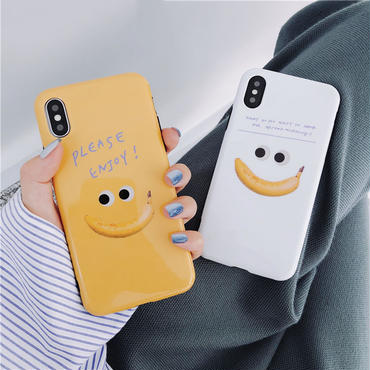 【M871】★ iPhone 6 / 6s / 6Plus / 6sPlus / 7 / 7Plus / 8 / 8Plus / X ★ シェルカバー ケース Polite Smile