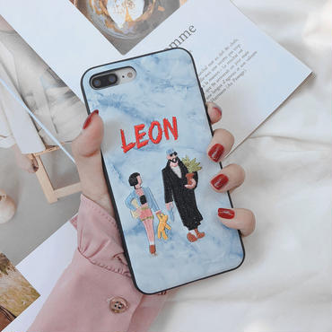 【M146】★iPhone6/6s/6Plus / 6sPlus / 7 / 7Plus / 8 / 8Plus / X /XS/Xs max★ シェルカバーケース  Leon