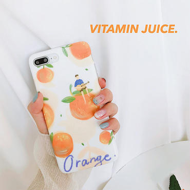 【M640】★ iPhone 6 / 6s / 6Plus / 6sPlus / 7 / 7Plus / 8 / 8Plus / X ★ シェルカバー ケース orange girl