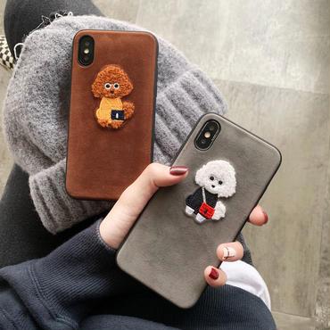 【N107】★ iPhone 6 / 6sPlus / 7 / 7Plus / 8 / 8Plus / X/XS / Xr /Xsmax ★ シェルカバー ケース かわいい Dog