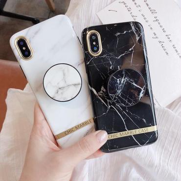 【M576】★ iPhone 6 / 6s / 6Plus / 6sPlus / 7 / 7Plus / 8 / 8Plus / X ★ シェルカバーケース 大理石 スタンド