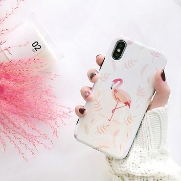 【M361】★ iPhone 6/6s/6Plus/6sPlus/7/7Plus/8/8Plus /X ★ iPhone Flamingos ケース ピンク フラミンゴ お洒落