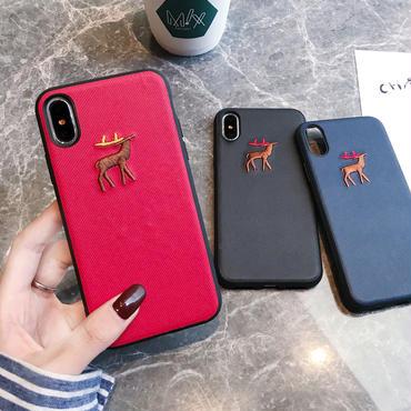 【M118】★ iPhone 6 / 6s / 6Plus / 6sPlus / 7 / 7Plus / 8 / 8Plus / X /XS/Xs max★ シェルカバーケース  秋冬物 Deer
