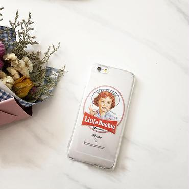【M602】★ iPhone 6 / 6s / 6Plus / 6sPlus / 7 / 7Plus / 8 / 8Plus / X ★ シェルカバーケース  Little Doobie クリア