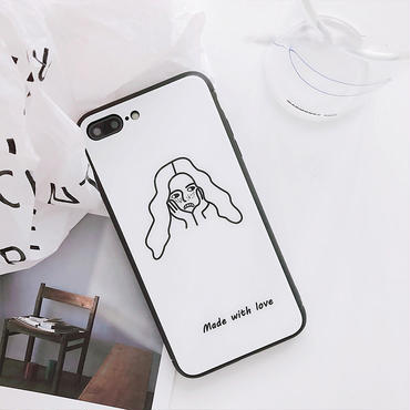 [MD353] ★ iPhone 6 / 6s / 6Plus / 6sPlus / 7 / 7Plus / 8 / 8Plus / X ★ シェルカバー ケース  Girl iPhone Case
