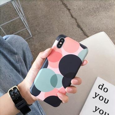 【M905】★ iPhone 6 / 6s / 6Plus / 6sPlus / 7 / 7Plus / 8 / 8Plus / X ★ シェルカバー ケース Art Polka Dots