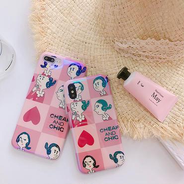 【M415】★ iPhone 6 / 6s /6Plus / 6sPlus / 7 / 7Plus / 8 / 8Plus / X ★ シェルカバー ケース Girl ピンク 可愛い