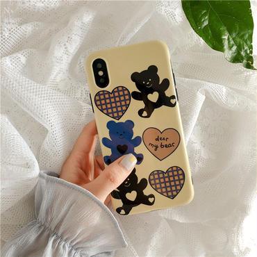 【M600】★ iPhone 6 / 6s / 6Plus / 6sPlus / 7 / 7Plus / 8 / 8Plus / X ★ シェルカバーケース Dear My Bear