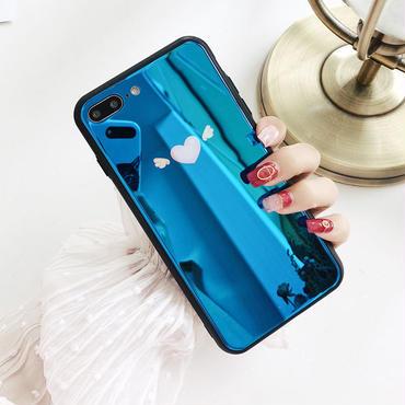 【M357】★ iPhone 6 / 6s / 6Plus / 6sPlus / 7 / 7Plus / 8 / 8Plus / X ★iPhone ケース ハート 天使の翼 ポップ 可愛い