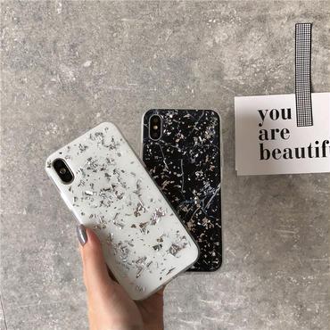 【M513】★iPhone 6/6s/6Plus/6sPlus/7/7Plus/8/8Plus /X ★ iPhone ケース つやつや大理石 マーブル 金箔