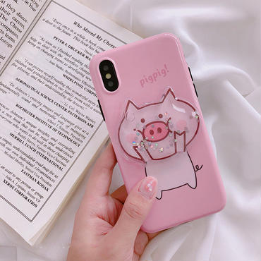 【M825】★ iPhone 6 / 6s / 6Plus / 6sPlus / 7 / 7Plus / 8 / 8Plus / X ★ シェルカバー ケース Pink Piggy