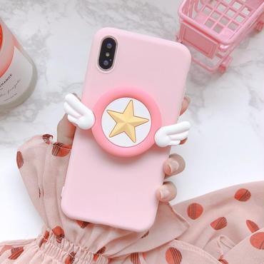 【M620】★ iPhone 6 / 6s / 6Plus / 6sPlus / 7 / 7Plus / 8 / 8Plus / X ★ シェルカバーケース   女の子 Angel Wing