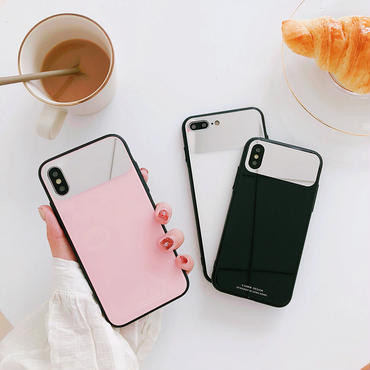 【M758】★ iPhone 6 / 6s / 6Plus / 6sPlus / 7 / 7Plus / 8 / 8Plus / X ★ シェルカバーケース  Mirror 3色