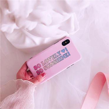 【M534】♡ iPhone 6 / 6s /6Plus / 6sPlus / 7 / 7Plus / 8 / 8Plus / X ♡ シェルカバー ケース So Lovely ピンク可愛い
