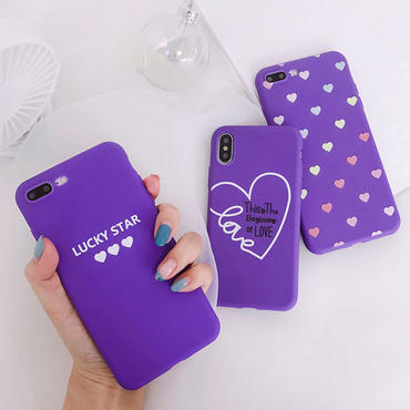 【M801】★ iPhone 6 / 6s / 6Plus / 6sPlus / 7 / 7Plus / 8 / 8Plus / X ★ シェルカバーケース In Purple