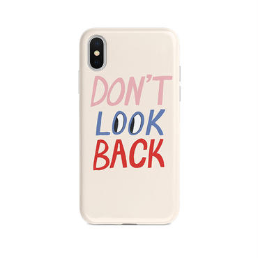 【M859】★ iPhone 6 / 6sPlus / 7 / 7Plus / 8 / 8Plus / X / Xs / XR / Xs max ★ シェルカバー ケース DONT LOOK BACK