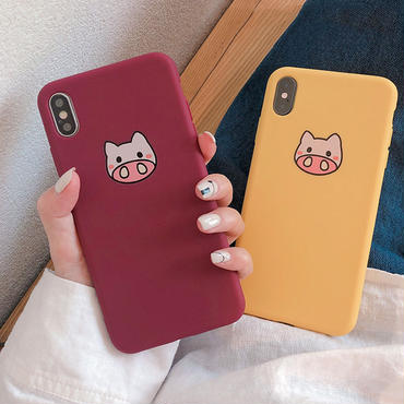 【M119】★ iPhone 6 / 6sPlus / 7 / 7Plus / 8 / 8Plus / X/XS /Xr /Xs Max★ シェルカバー ケース Cute Piggy