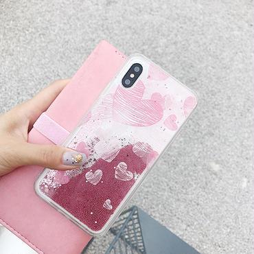 【M367】★ iPhone 6 / 6s / 6Plus / 6sPlus / 7 / 7Plus / 8 / 8Plus / X ★ Liquid iPhone Case リキッド ケースハート