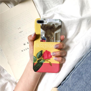 【M429】★ iPhone 6 / 6s /6Plus / 6sPlus / 7 / 7Plus / 8 / 8Plus / X ★ シェルカバー ケース Cat Expect Flower 可愛い