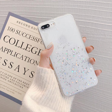 【N131】★ iPhone 6 / 6sPlus / 7 / 7Plus / 8 / 8Plus / X/ XS / Xr /Xsmax ★ シェルカバー ケース Glitter Star