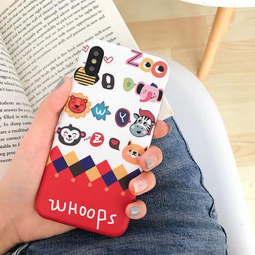 【M726】★ iPhone 6 / 6s / 6Plus / 6sPlus / 7 / 7Plus / 8 / 8Plus / X ★ シェルカバー ケース ZOO Animals