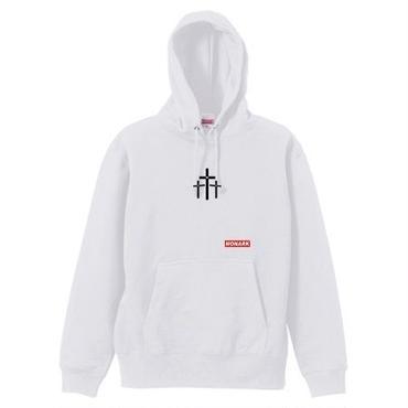 "【新商品】MONARK""3cross""hoodie (White)"