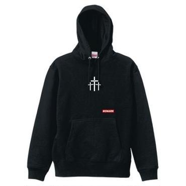 """【新商品】MONARK""""3cross""""hoodie (Black)"""