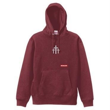 "【新商品】MONARK""3cross""hoodie (Burgundy)"