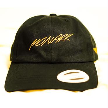 "MONARK  ""Logo stitch"" cap (Black/Orange)"