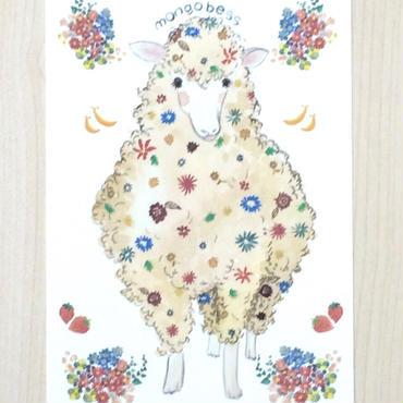ポストカード〈バラ売り〉 ひつじ_PC-Y001