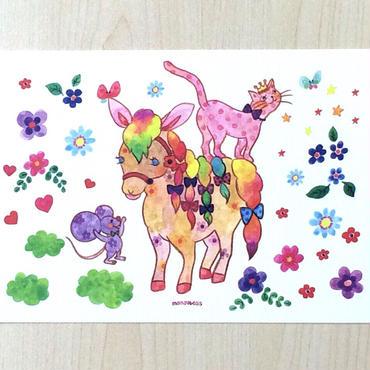 ポストカード〈バラ売り〉 ポニーとねずみ_PC-Y149
