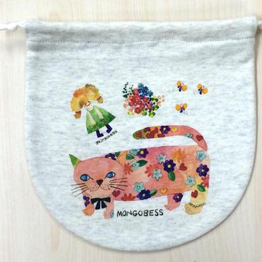 [送料無料] 巾着(大) モンゴにゃんこ_KTL-Y057