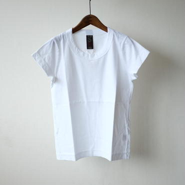 homspun 天竺フレンチスリーブTシャツ・ホワイト