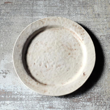 bonoho 28cm リム狭プレート・白マット1(現品写真)
