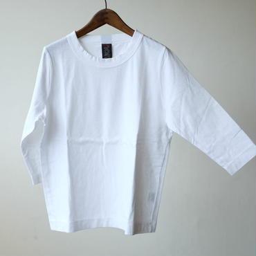 homspun  天竺七分袖Tシャツ・ホワイト
