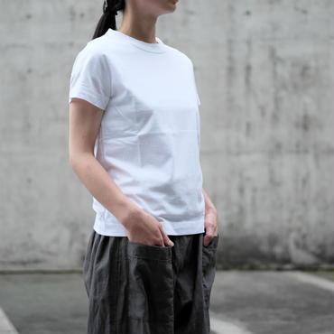 (再入荷)homspun 天竺半袖Tシャツ・ホワイト
