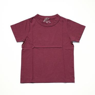 homspun キッズTシャツ・120サイズ・バーガンディ