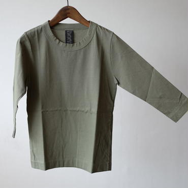 homspun  天竺七分袖Tシャツ・ライトグリーン