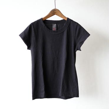 homspun 天竺フレンチスリーブTシャツ・ブラック