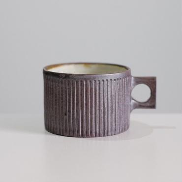 kobo syuro 銀彩釉内粉引線刻マグカップ