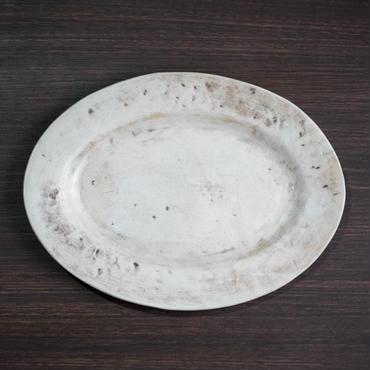 Bonoho 白マットオーバル皿・浅(現品写真)