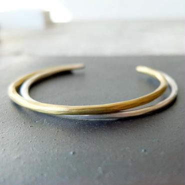 (予約品)hammered・バングル brass&silver