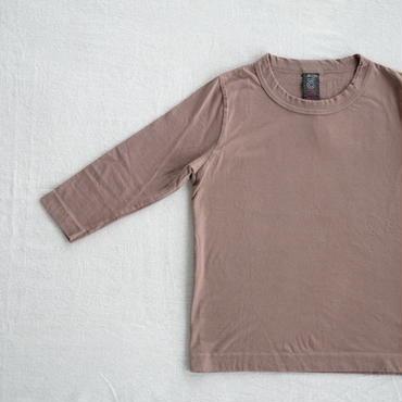 homspun  天竺七分袖Tシャツ・ライトブラウン