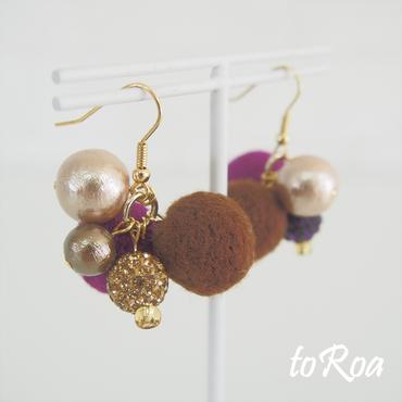 【toRoa】ピアス【599N】