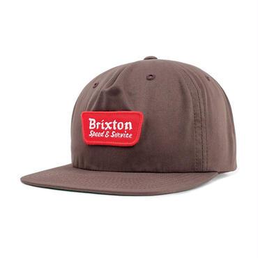"""【BRIXTON】COMPRESSOR SNAPBACK CAP """"BROWN"""""""